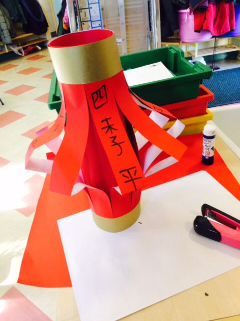 Year 2 designing Chinese temples and lantern
